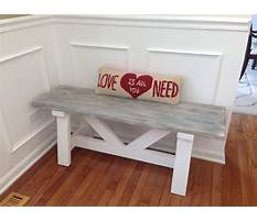 Distressed bench with back Plan