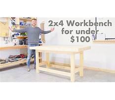 Diy 2x4 workbench for under 100 modern builds woodworking Plan
