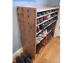 Diy behind the door shoe rack Plan