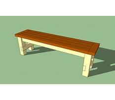 Diy bench seat Plan