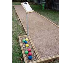 Diy bocce court Plan