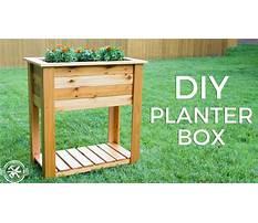 Diy build planter box Plan