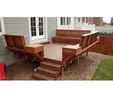 Diy built in deck benches Plan
