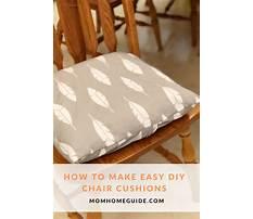 Diy chair cushions with ties Plan