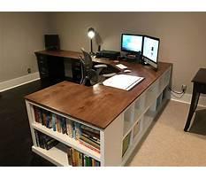 Diy corner desk for two Plan