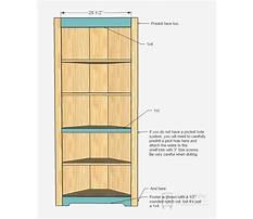 Diy corner hutch cabinet Plan