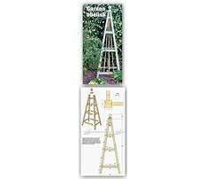 Diy garden obelisks pyramids Plan