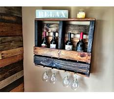 Diy pallet wine rack with glass holder Plan