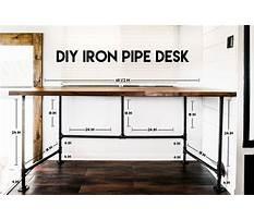 Diy plumbing pipe l shaped desk plans Plan