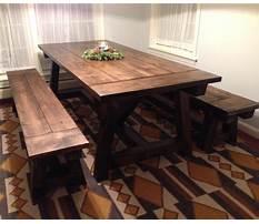Diy rustic dining bench Plan