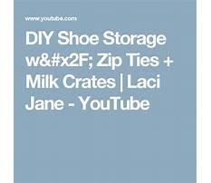 Diy shoe storage w zip ties milk crates laci jane Plan