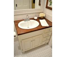Diy wood countertop bathroom Plan