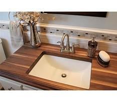 Diy wood countertop bathroom vanity Plan