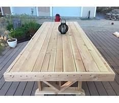 Diy wooden outdoor table.aspx Plan