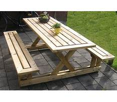 Diy wooden picnic table plans Plan