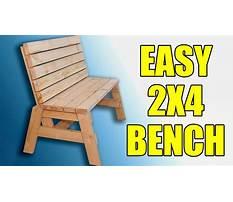 Diy x back bench Plan