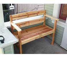 Do it yourself build a bench Plan