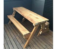 Do it yourself folding picnic table bench plans Plan