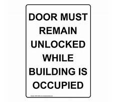 Door must remain unlocked building occupied Plan