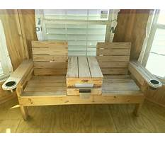 Double chair bench with table Plan
