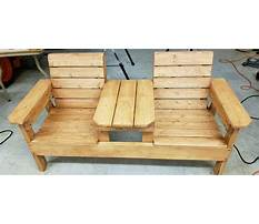 Double chair bench with table plans Plan
