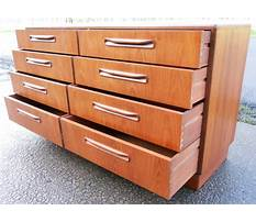 Double chest of drawers Plan