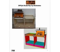 Double flip top workstation Plan