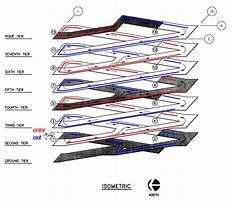Double helix parking garage design Plan