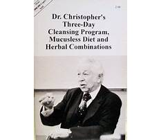 Dr john christopher mucusless diet Plan