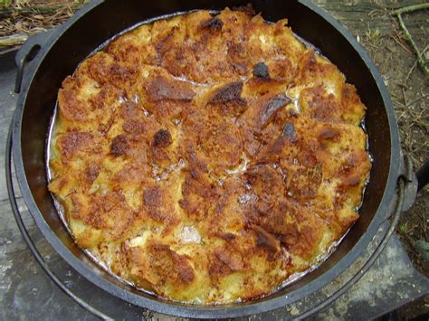 Dutch Oven Peach French Toast