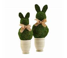 Easter bunny topiary Plan