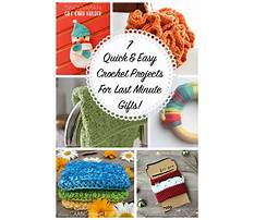Easy crochet ideas for gifts Plan