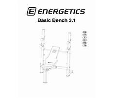 Energetics basic bench workout station Plan