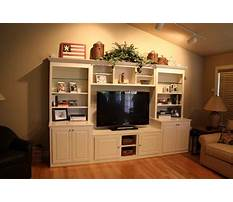 Entertainment center wall cabinets Plan