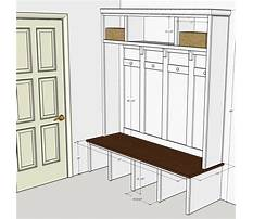 Entryway lockers with bench plans Plan