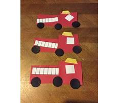 Fire truck craft preschool Plan