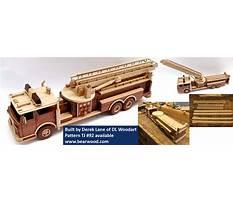 Fire truck wood craft Plan