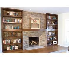 Fireplace and bookshelves designs Plan