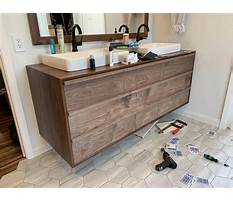 Floating vanity woodworking plans Plan