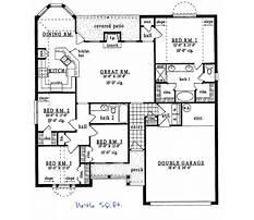 Floor plans for homes under 1500 sq ft Plan