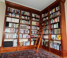 Floor to ceiling bookcase with ladder Plan