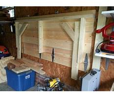 Fold up workbench on garage wall Plan