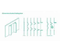 Folding door plan view Plan