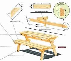 Folding picnic table benches Plan