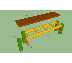 Folding wooden bench seat Plan
