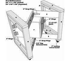 Folding woodworking workbench plans Plan