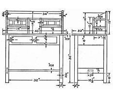 Folding writing desk plans Plan
