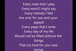 For You Lyrics