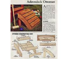 Free adirondack chair footstool plans Plan