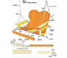 Free adirondack porch swing plans Plan